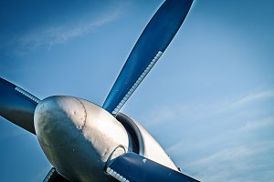 Airplane retro vintage propeller det