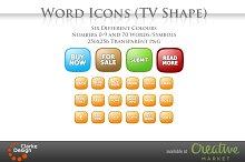 Word Icons (TV Shape)