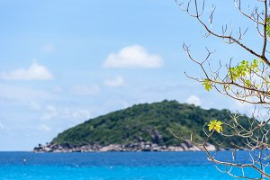 Blue sea at Mu Ko Similan Island