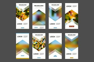 Vector flyer blur design template