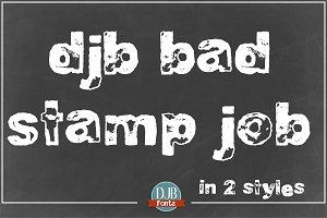 DJB Bad Stamp Job Font