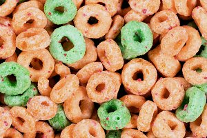 Round Cereal with Fruit Favor