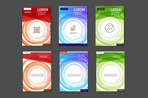 Set brochures templates