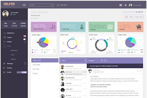 HELPER | Admin Dashboard UI PSD