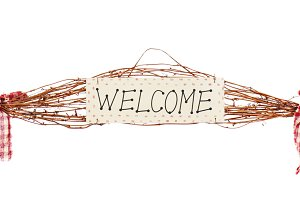 "Sign ""Welcome"""