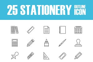 outline stationery icon