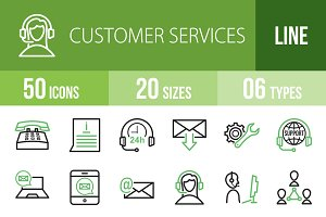 50 Customer Services Green & Black