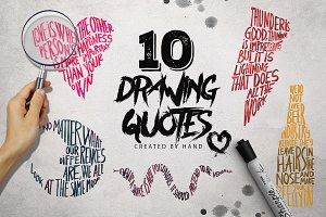 10 Drawing Quotes [-30% Intro]