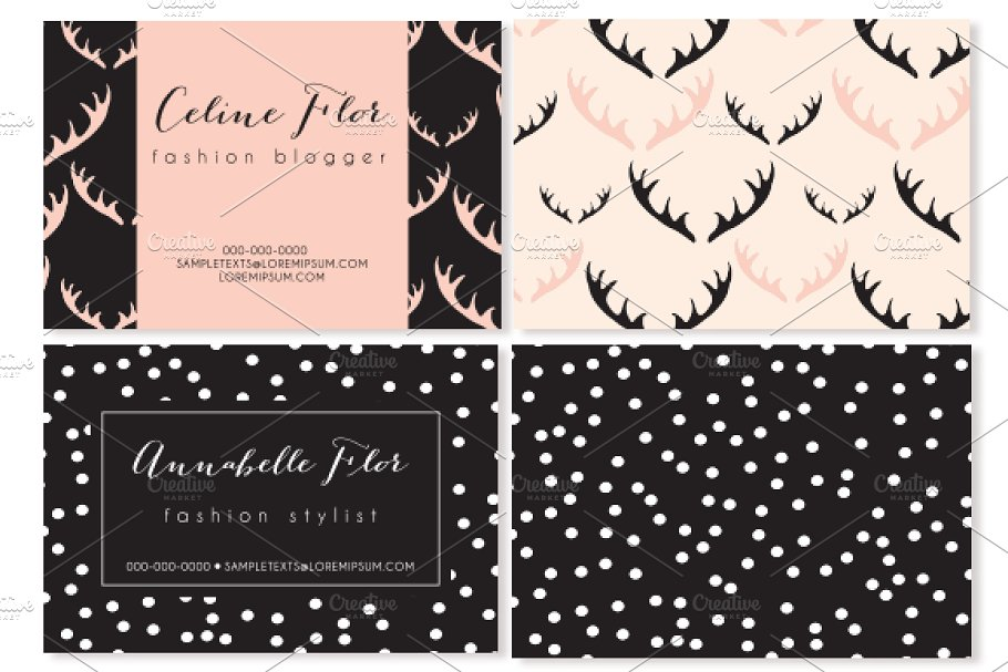 6 trendy business card templates  creative business card