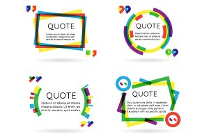 Blog Quote Art Template Set