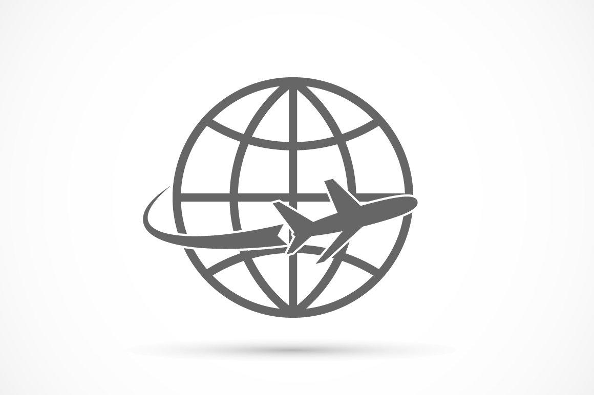 Airplane travel tourism symbol illustrations creative market buycottarizona Gallery