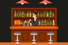 Bar Illustration Flat Design