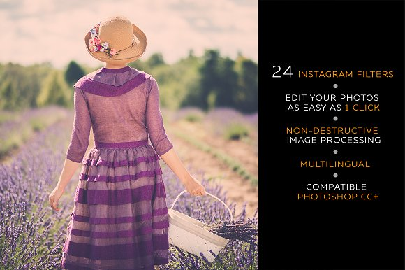 Instagram filters photoshop panel plug ins creative market ccuart Image collections