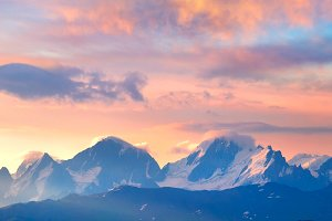 Mountain sunrise