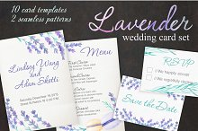 Lavender Wedding Card Set