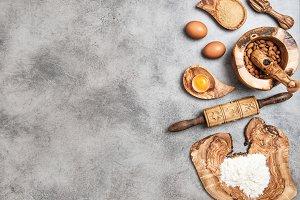 Baking Ingredients. Food