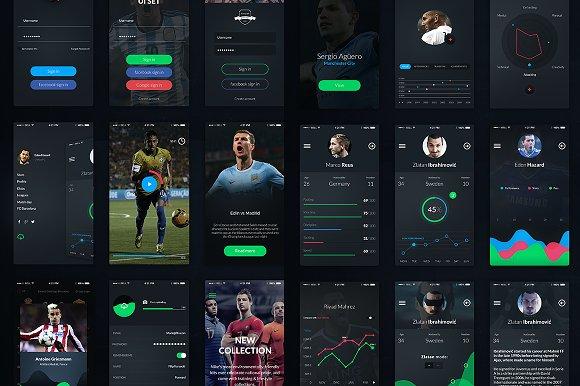 Football App UI Set