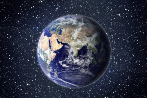 Earth globe isolated