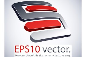 High-quality 3d 5 S logo