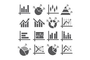 Diagram and Graphs Icons