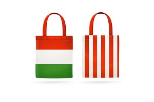 Color Sale Bag Set. Vector