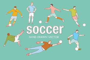 Soccer hand drawn vector