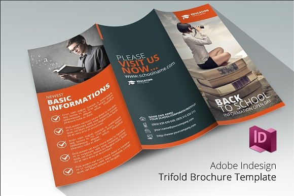 back to school 3 brochure template brochure templates creative