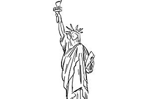 The Statue of Liberty sketch
