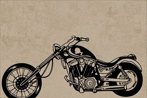 Retro motorcycle Vector Illustration