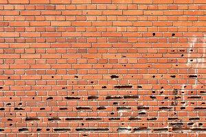 Damaged Old Brick Wall