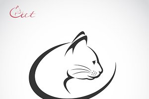 Vector of a cat head design. Pet.