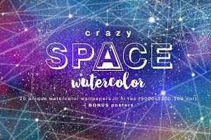 Crazy SPACE Watercolor