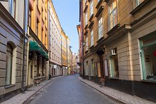 old town street in Stockholm
