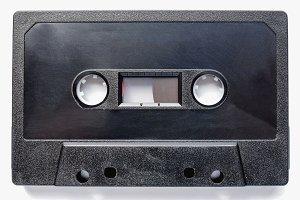 Black tape cassette