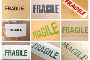 Fragile labels set