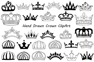 Hand Drawn Crown ClipArt