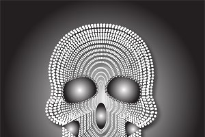 Skull vector white pearls