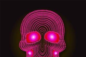 Skull vector pink pearls