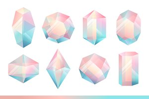 Set of geometric crystals.