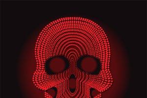 skull vector red