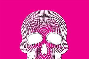 skull vector white pearl