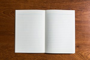 Blank Open notebook