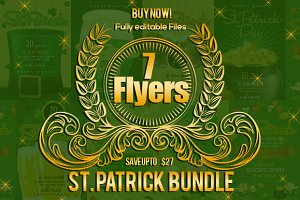 7 St. Patricks Flyers Bundle