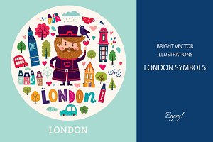 Illustrations with London symbols