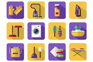 Housekeeping Vector Icons Set