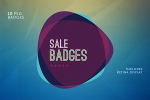 Flat Flavour Sales Badges