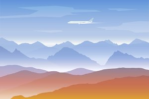 Mountains background set