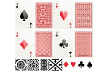 Poker Cards set and patterns