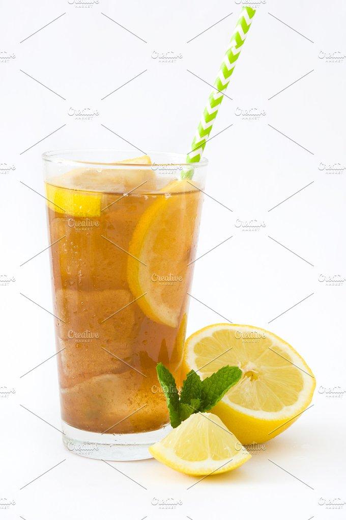 Ice tea with lemon. Isolated photo - Food & Drink