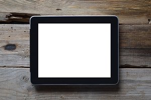 Black digital tablet